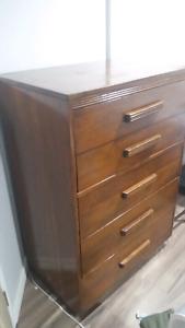 Birch Wood Bedroom Dresser