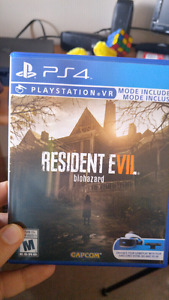 Selling Resident Evil 7 for PS4 VR compatible