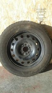 4 Goodyear Nordic Winter Tires with Rims! 215/60R16