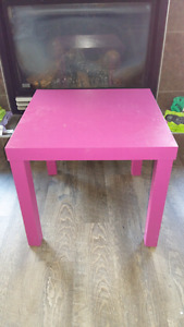 Small pink purple table or desk or night table