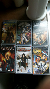 6 psp video games 30 dollars for the lot