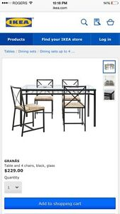 Dining IKEA set . Price negotiable!!