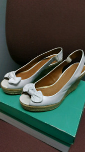 White Leather Platforms from Clarks