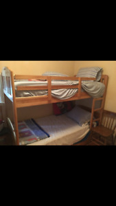 BUNK BEDS, solid maple wood