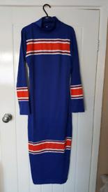 BRAND NEW long midi bodycon dress. uk M/12
