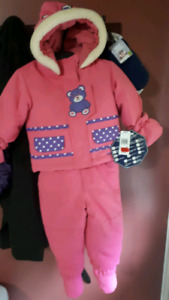 Brand NWT baby girl snow suit and booties