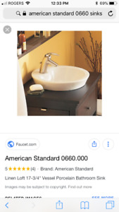American standard raised bathroom sink