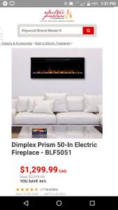 Dimplex Prism 50-In Electric Fireplace