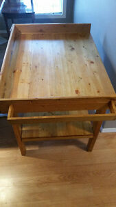 Solid Wood Change Table in Very Good Used Condition-$60