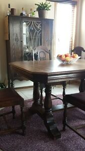 Antique Walnut Dining Set