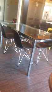 Modern chrome table for sale (table only)! Oakville / Halton Region Toronto (GTA) image 1
