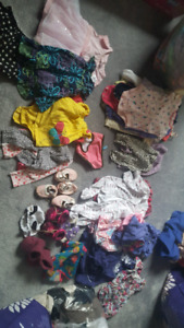 baby girl clothing lot 0-18 months  55 items