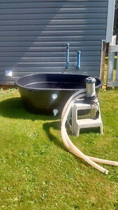 Stock tank hot tub