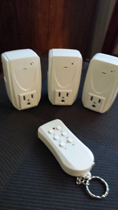 NEW WIRELESS  REMOTE WITH 3 OUTLETS