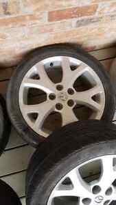 "17"" aluminum Mazda snowflake rims  Kawartha Lakes Peterborough Area image 4"
