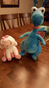 Lamby and Stuffy toys from Doc McStuffins show.