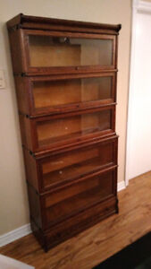 Macey Barrister Stacking Bookcase- 5 sections, + top/drawer base