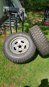 Truck wheels 235/ 75/R15 tires