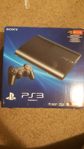 Ps3 super slim 500 gb with 5 games