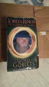 LORD OF THE RINGS GLASS GOBLET COLLECTION