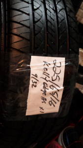 225/65/16_100T*One Tire Only *KELLY EDGE A/S TREAD@9/32NDS _90%+