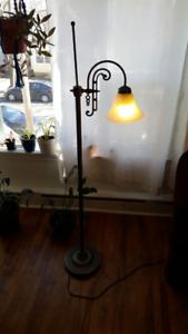 Milk Glass Standing Floor Lamp perfect working order
