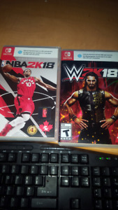 NBA 2K18 and  WWE 2K18 for Nintendo switch