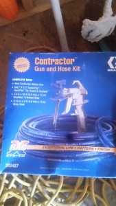 Bac systems paint spray gun and hose.
