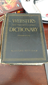 1957 Second edition websters dictionary