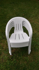 Patio Stacking Resin Outdoor Chairs