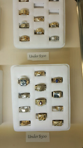 Various Gold Rings under 300$!
