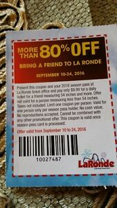 le Rondes 80 % off ticket during month of September 2016