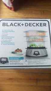 Black+Decker food steamer new in box Gatineau Ottawa / Gatineau Area image 1
