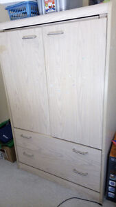 Closet and matching end table