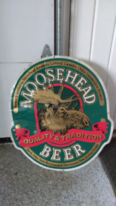 Moosehead beer vintage metal sign