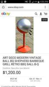 Mid era art deco sheppard ball bbq