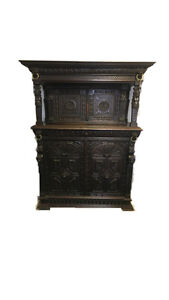 Antique profusely carved belgium buffet