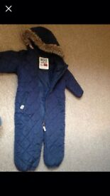 Boys next quilted snow suit 1.5-2 years
