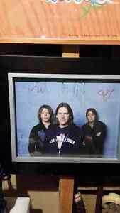 GREAT BIG SEA SIGNED FRAMED PICTURE