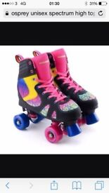 osprey unisex spectrum high top quad skate roller disco/derby