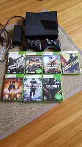Xbox 360 250 gb.  Several games and 2 controllers
