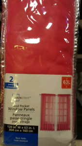 New in package two Rod pocket window panel