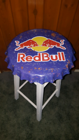 Red bull small drinks table/stool