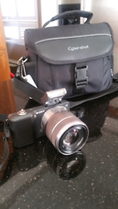 Sony NEX-3 with lense,flash and bag