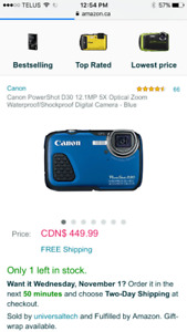 Canon PowerShot D30 - waterproof