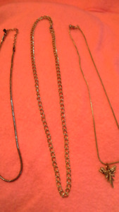 sets of costume jewelry necklaces. $5 per set of 2-3.