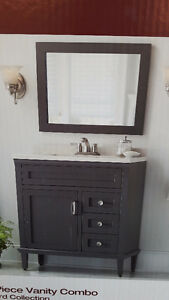 "NEW 30"" VANITY WITH TOP AND MIRROR - HOME DECORATORS COLLECTION"