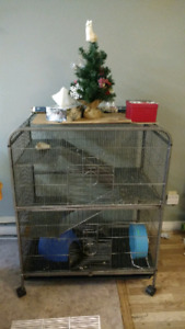 Large Cage For Small Animals w/accessories