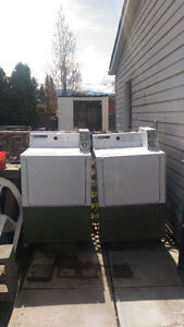 2 commercial coin gas dryers