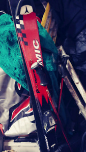 Atomic Pro Race 6'22 Youth Skis with poles